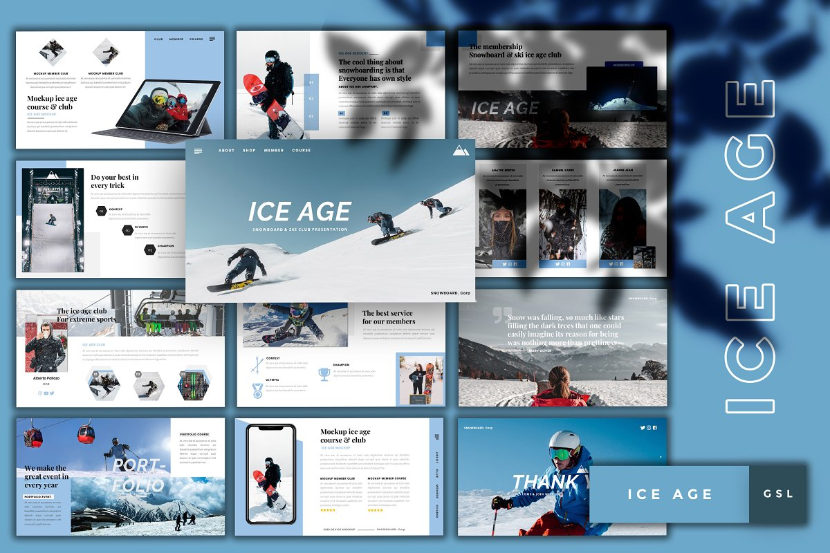 Ice Age-Snowboard Googleslide