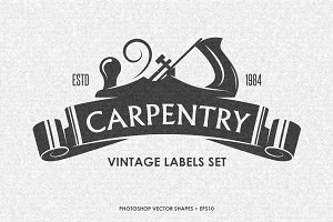 Carpentry Labels Set