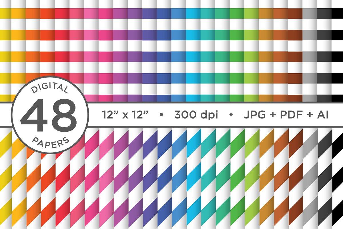 Rainbow Seamless Stripes Patterns