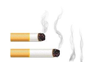 Set of five vector cigarettes