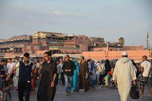 Jemaa el-Fnaa Morocco Marrakesh