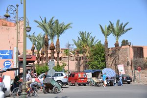 Street scene in Marrakesh Morocco