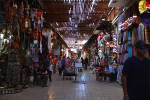 Arabian bazar in marrakesh morocco