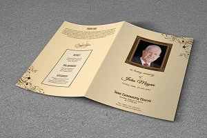 Simple Funeral Program Template-T220