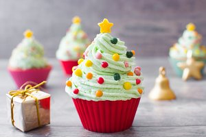 Christmas tree chupcake