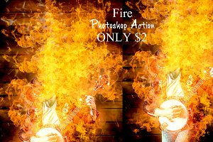 file Fire Photoshop Action