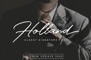 Holland Elegant Font Collection