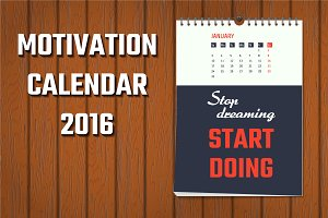 Motivation wall calendar 2016