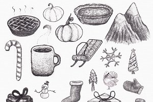 Fall/Winter Graphite Doodles