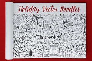 Holiday Doodles Vector Set
