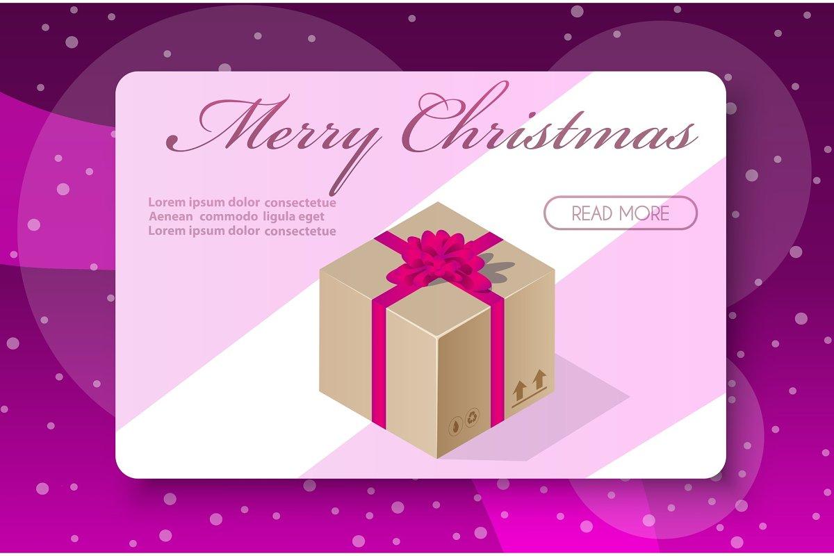 Christmas holiday happy day box