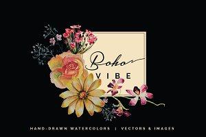 Boho Vibe-Vector Watercolors