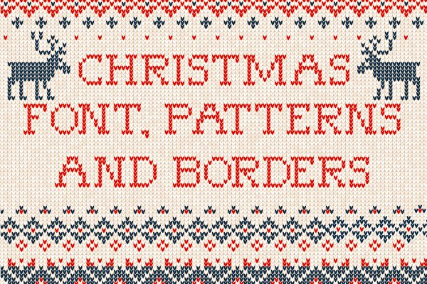 Knitted Font And Patterns W Pre Designed Illustrator Graphics Creative Market