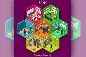Bank Cell Isometric