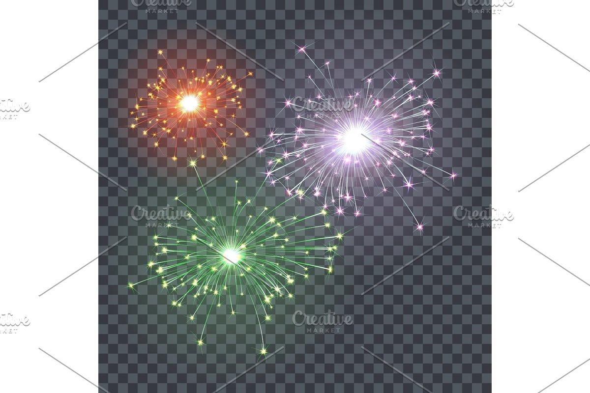 The effect of festive firework. Xmas
