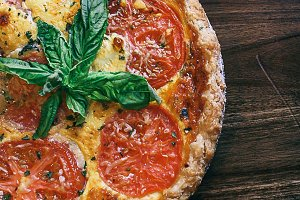 Tomato Basil Pie Photograph