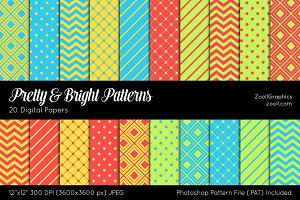 Pretty And Bright Digital Papers