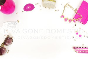 Styled Desktop Photo - Hot Pink