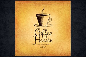 Coffee house menu template