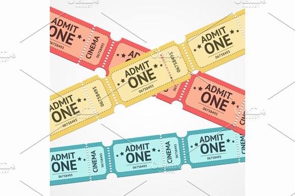 Tickets Background. Vector - Illustrations