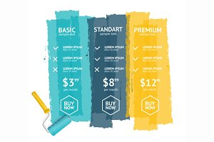 Pricing List. Vector