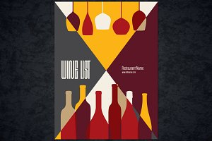 Wine list template for restaurant
