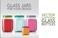 Template of Glass Jars