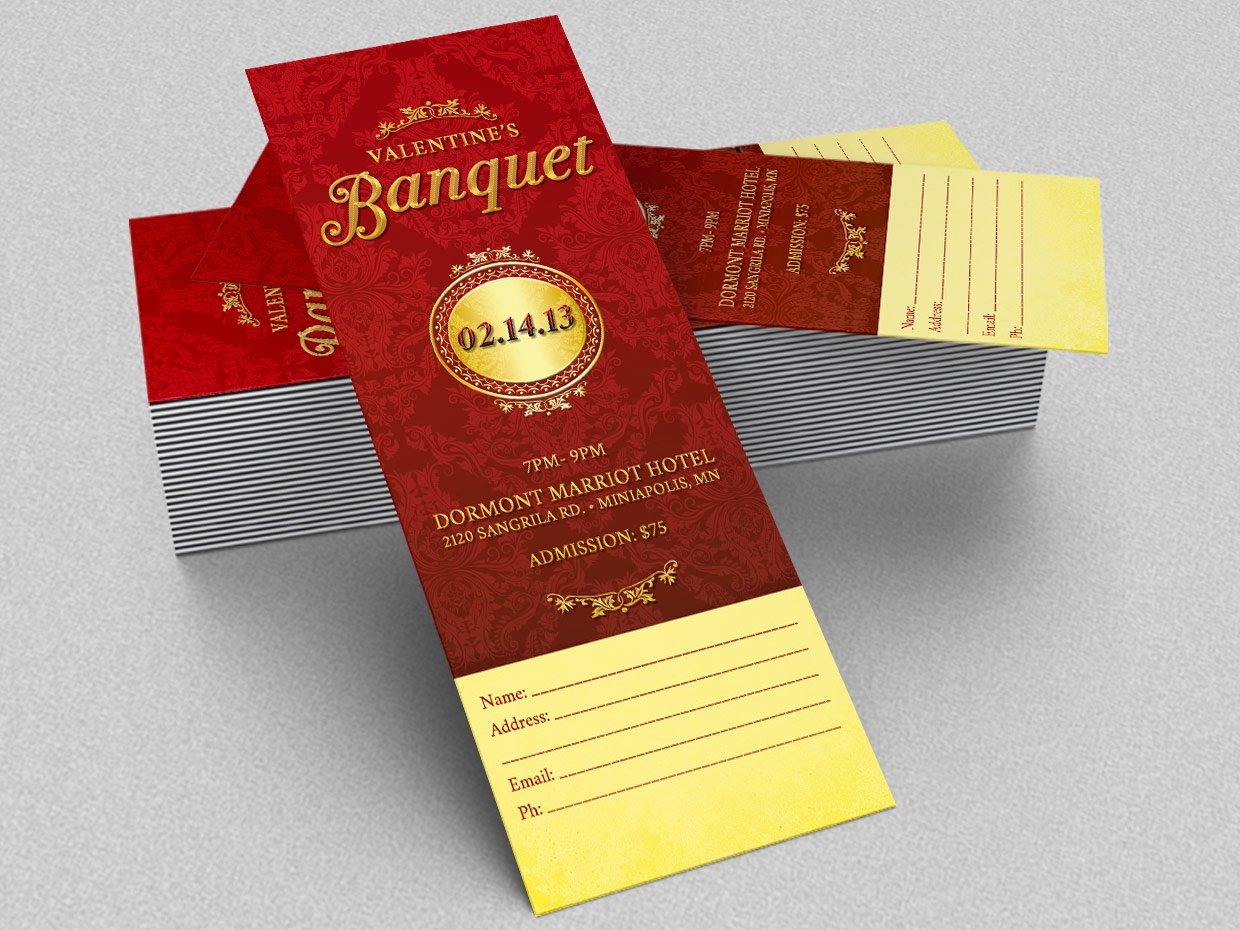 valentines pageant ticket template templates creative market