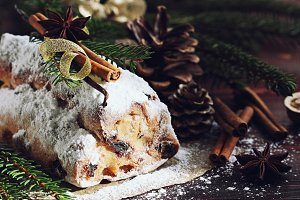 Christmas traditional stollen