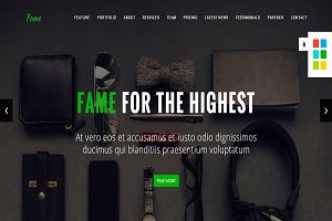 Fame -Business Onepage HTML Template