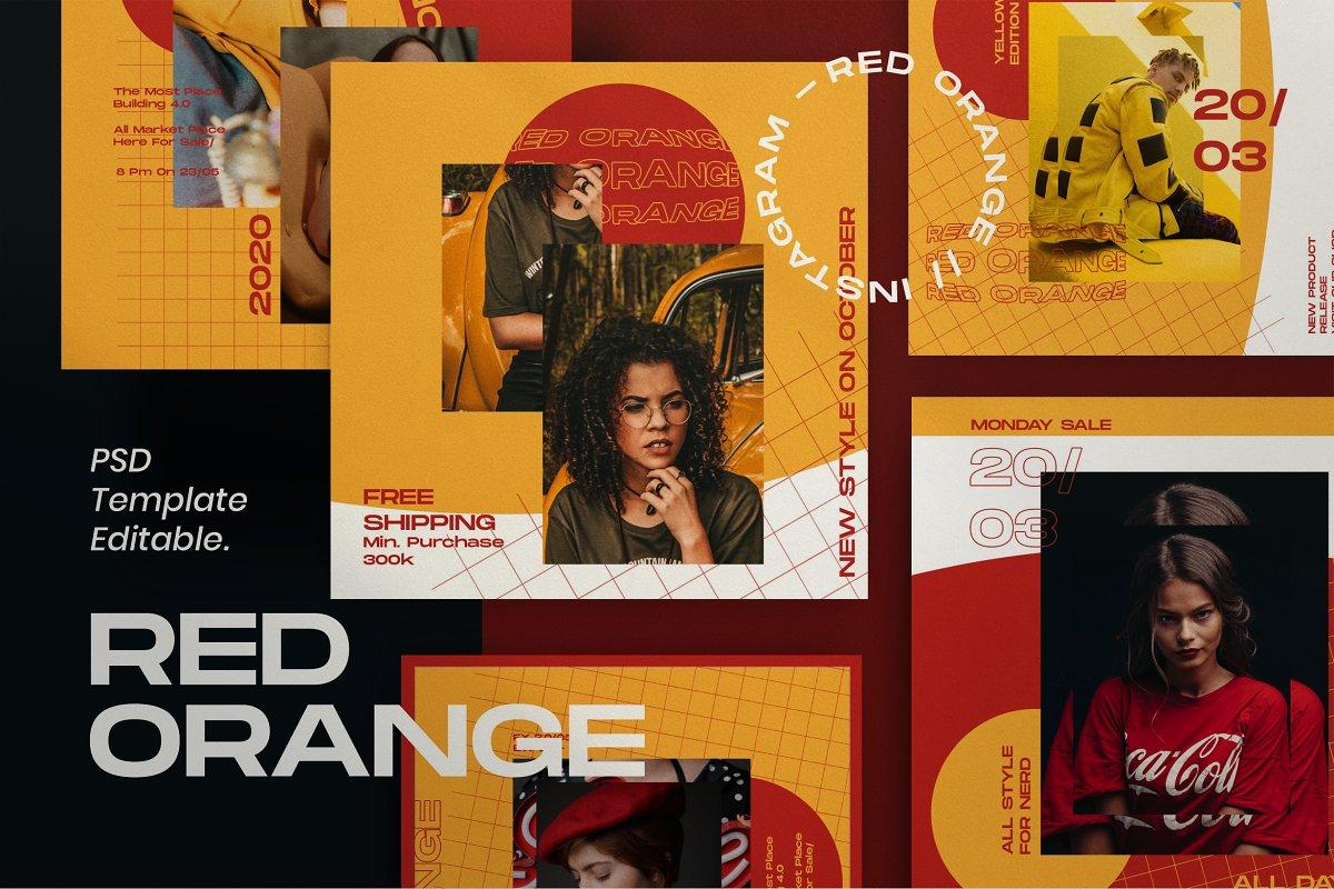 Red Orange - Social Media Template