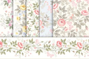 Romantic rose patterns