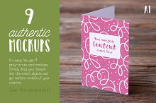 Authentic Greeting Card Mockups V01