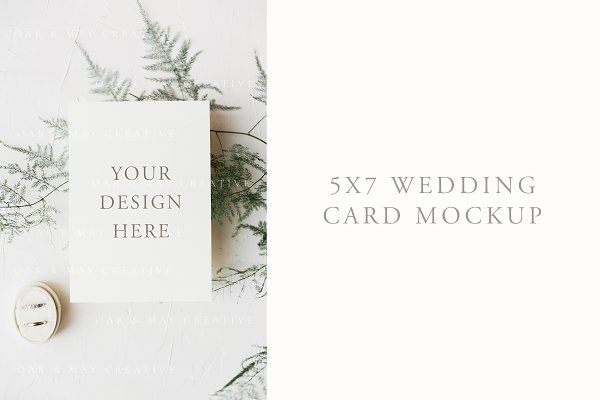 A7 Wedding Invitation Mockup