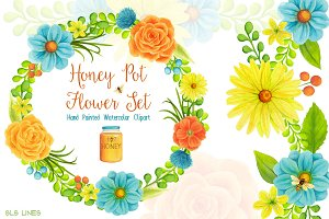 Honey Pot Flower Set