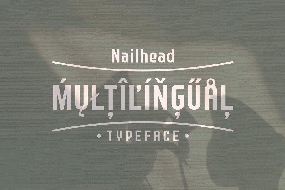 Nailhead Modern Wedding Typeface