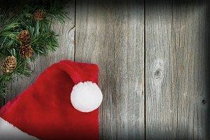 Santa cap with vignette border