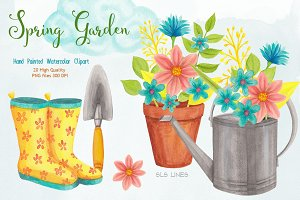 Spring Gardening Watercolors