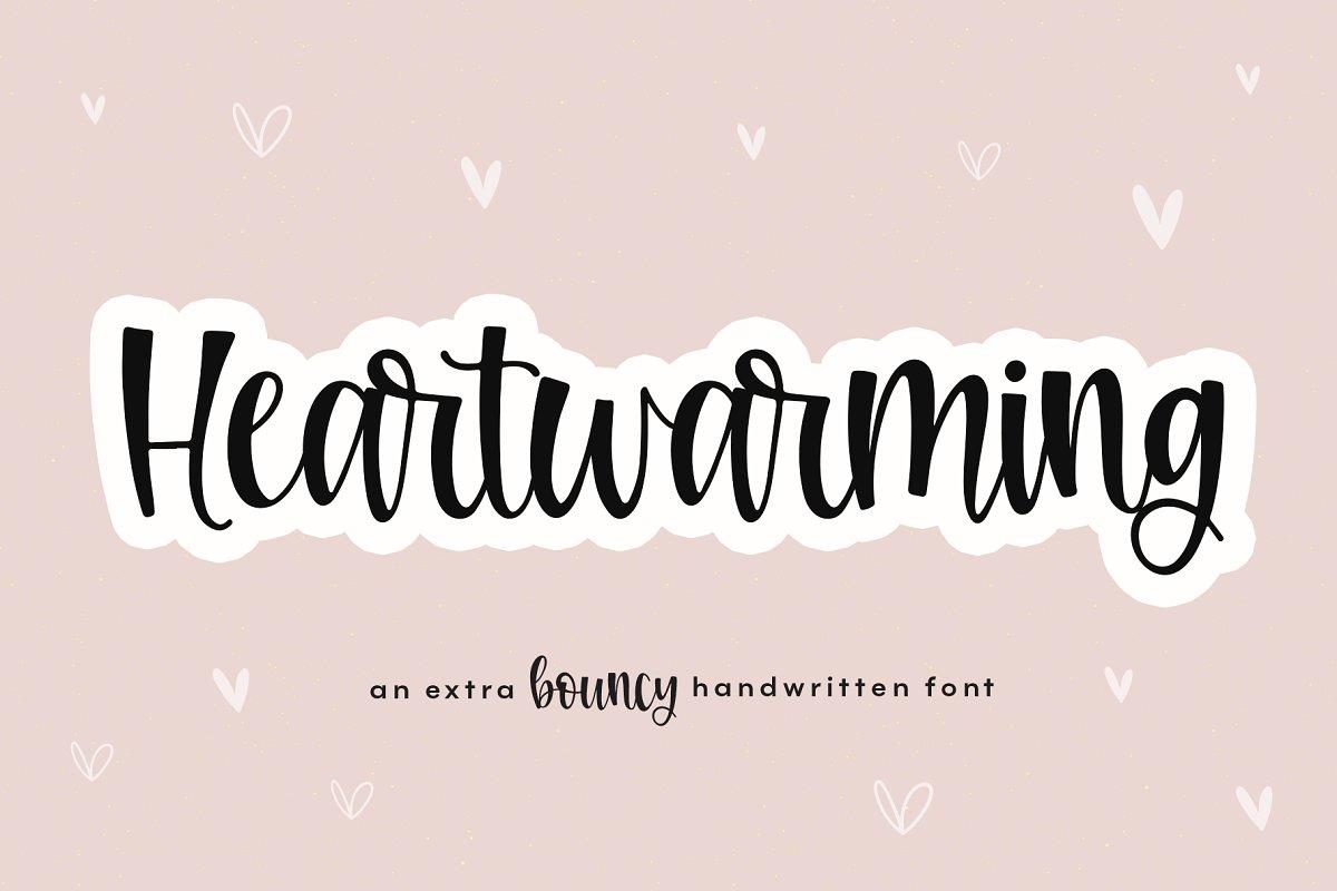 Heartwarming | A Bouncy Script Font