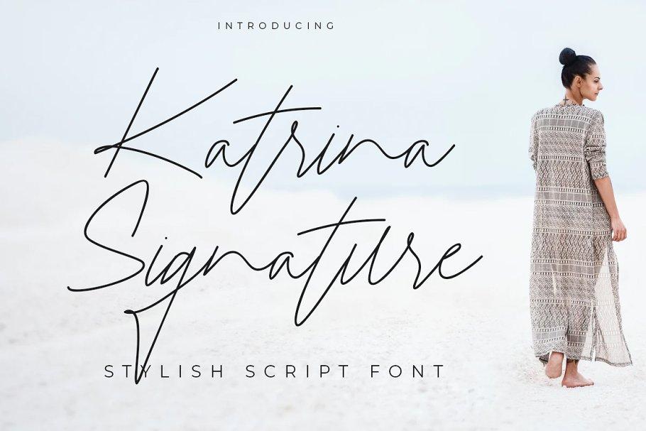 Katrina Signature in Script Fonts - product preview 1