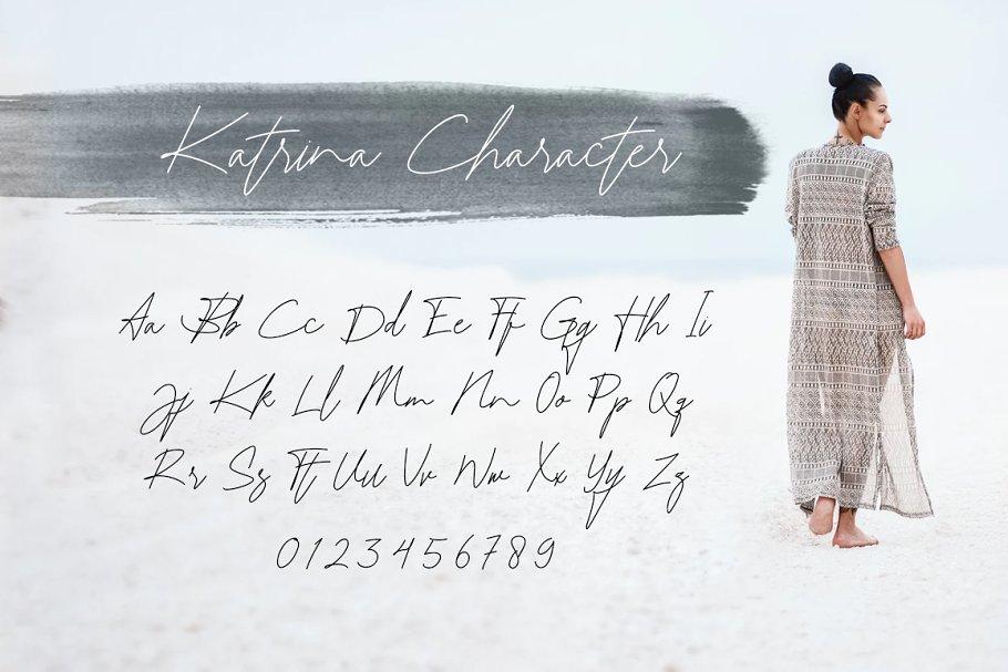 Katrina Signature in Script Fonts - product preview 7