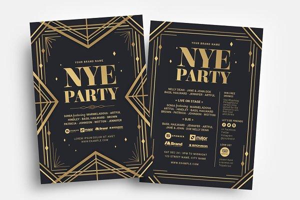 Art Deco Party Flyer Template