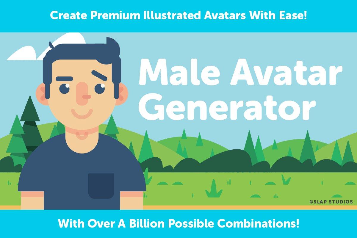 Male Avatar Generator ~ Illustrations ~ Creative Market