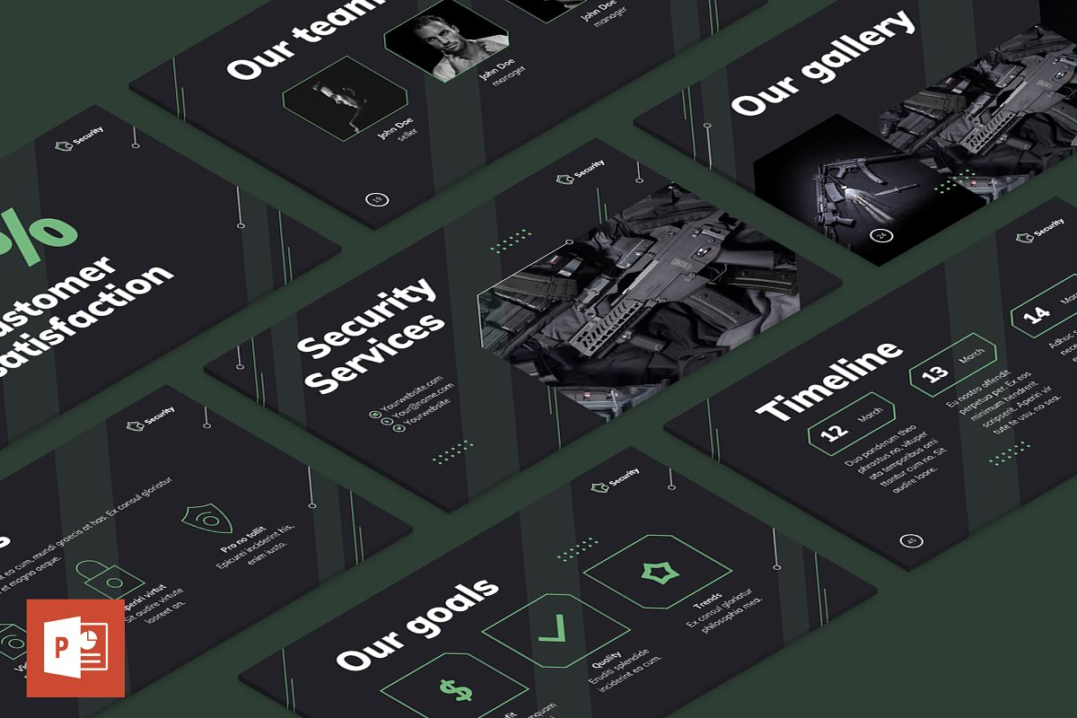 Security Guard Services Presentation Powerpoint Templates