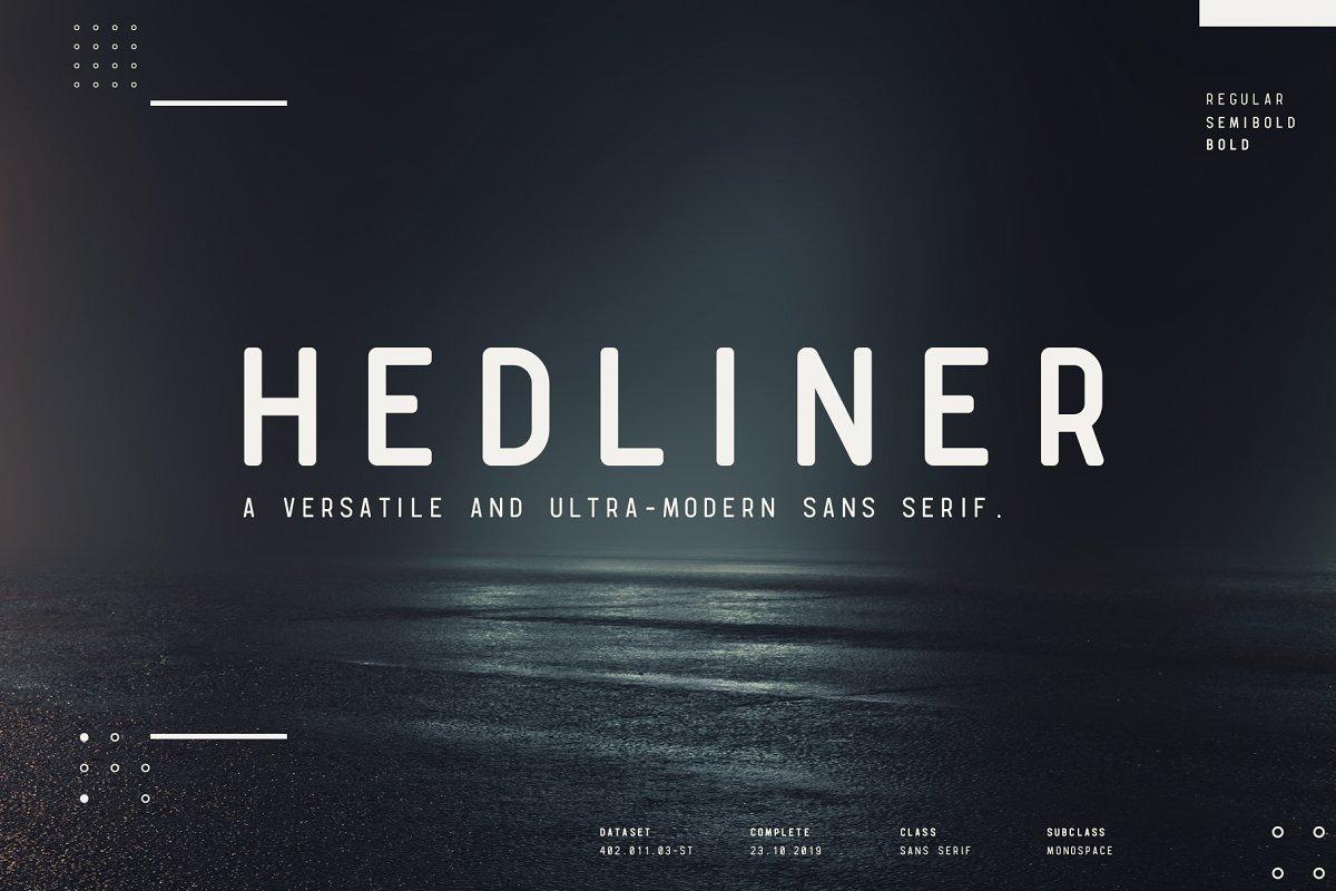 Hedliner Sans Mono Font
