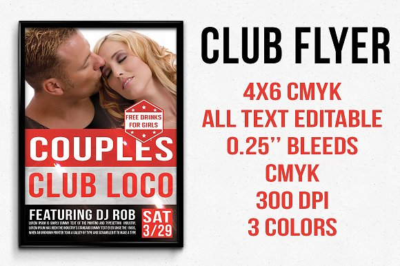 Couples Club Flyer