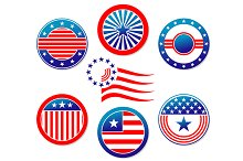 American national banners and symbol
