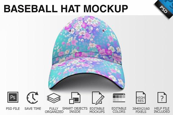 Baseball Hat Mockup 02