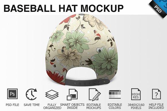 Baseball Hat Mockup 04