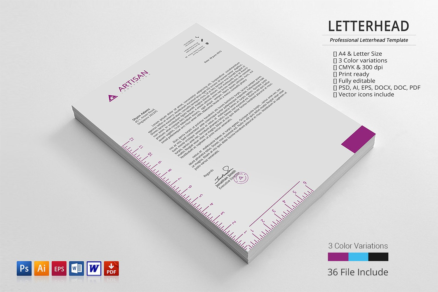 Creative letterhead stationery templates creative market spiritdancerdesigns Image collections